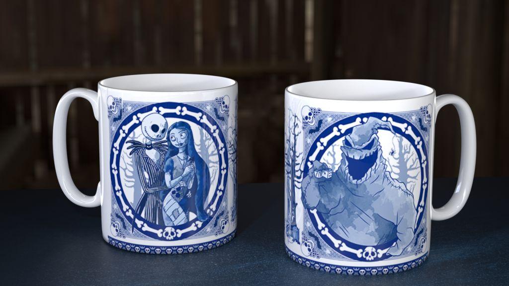 Blue Willow Night XMas Mug