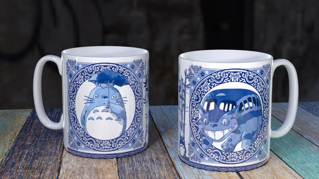 Blue Willow Totoro