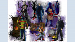 Group Horror Print 1